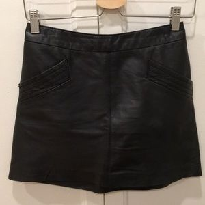 Real leather mini skirt from ZARA